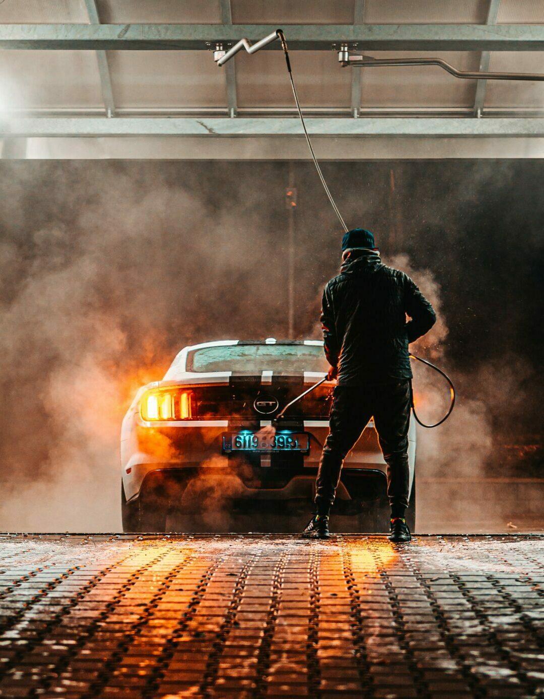 bezkontaktní mytí vozu